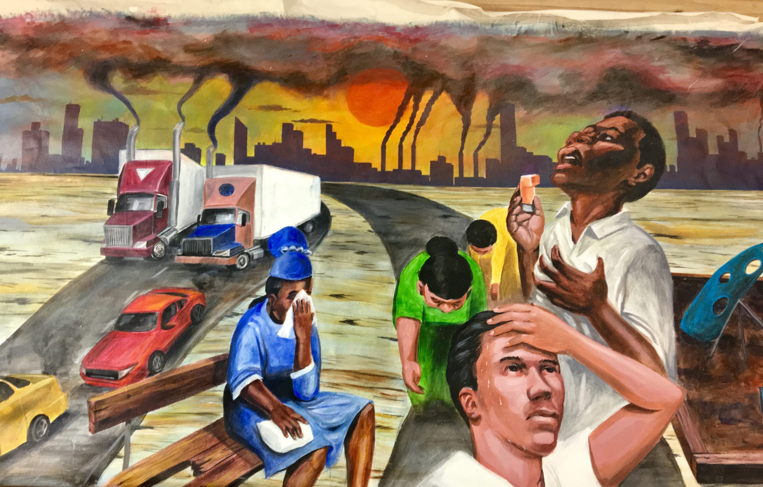 Pollution Harms our Health artist James Brutus